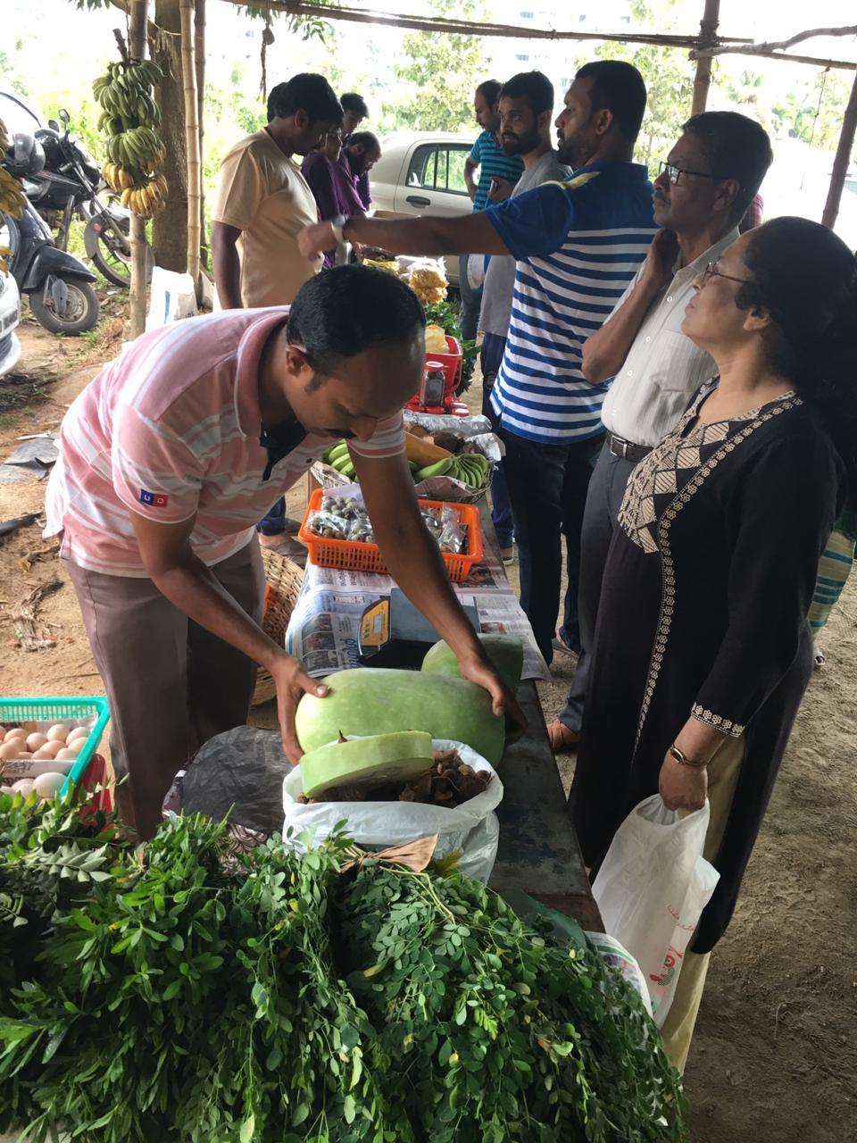 Kerala organic vegetable market