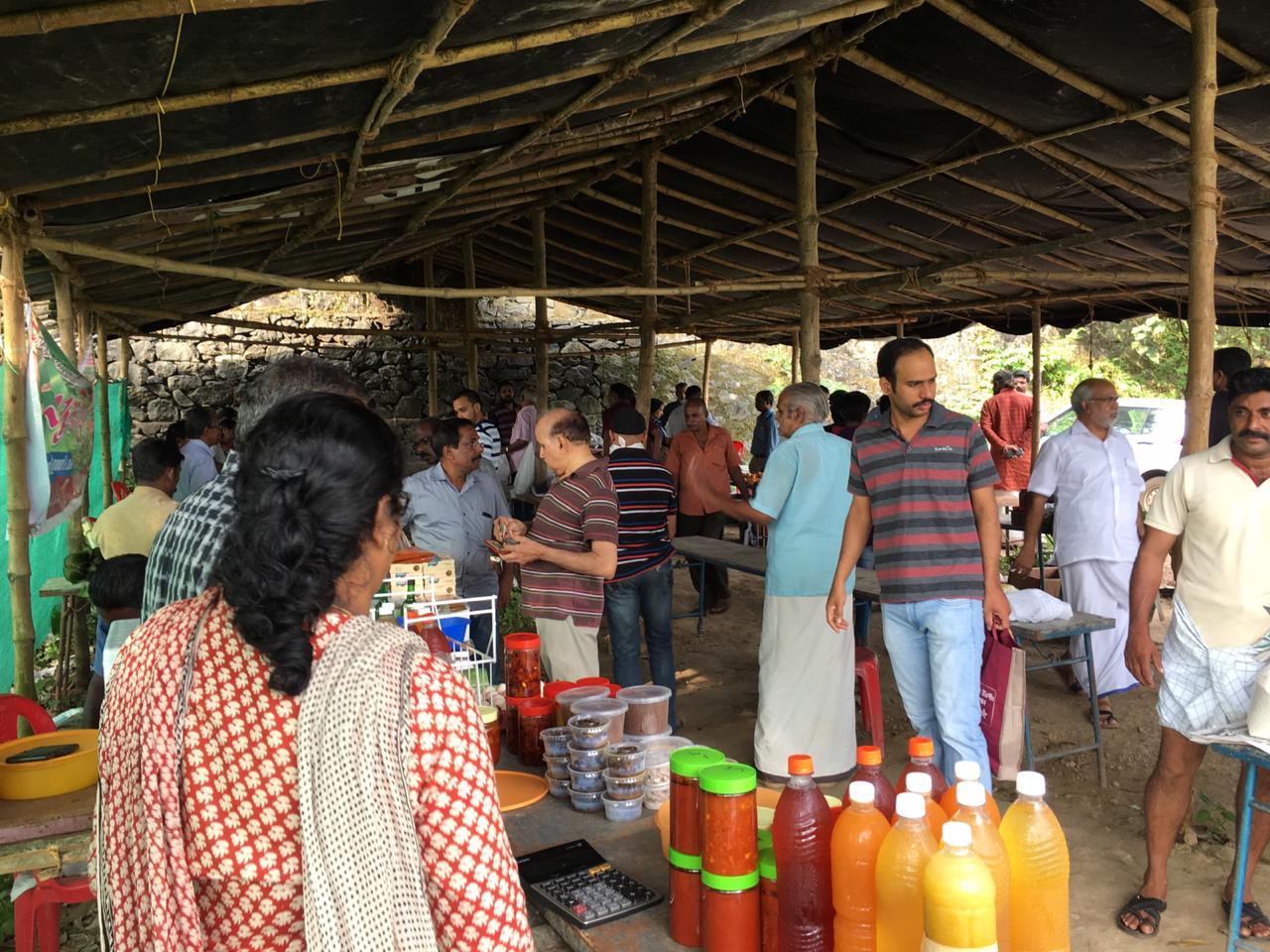 Organic local vegetable market Kerala