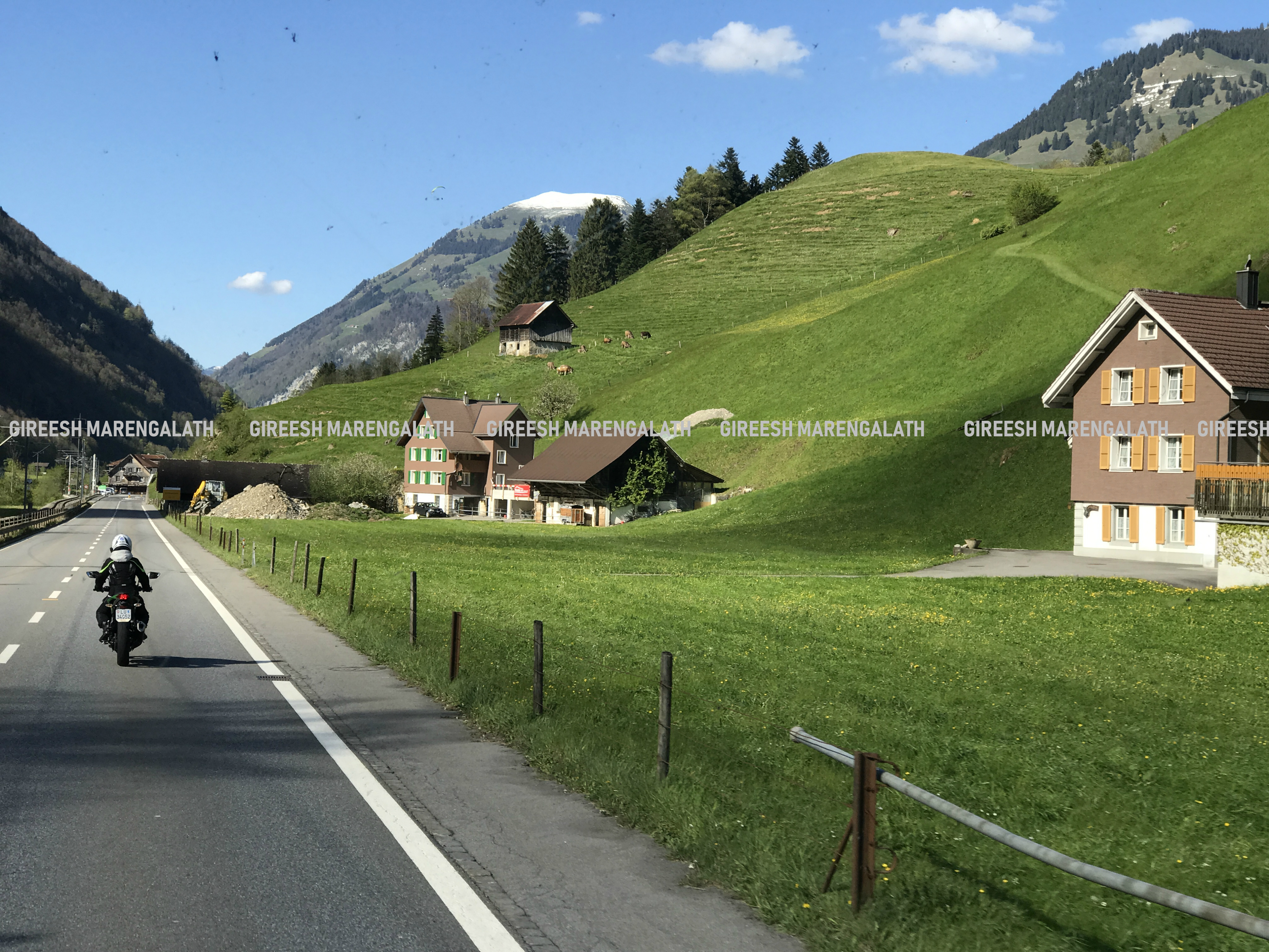 Swiss village. Mobile photo by Gireesh Marengaleth
