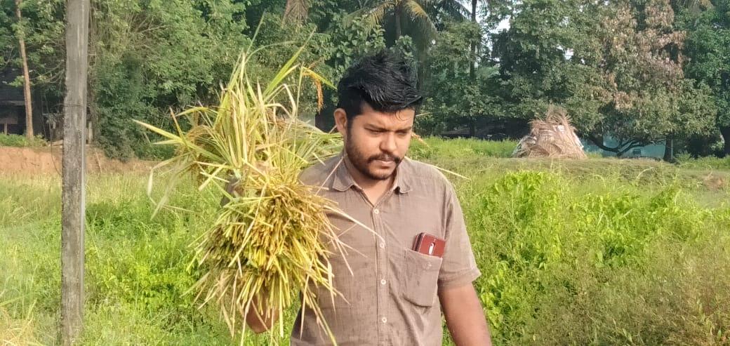 Swaroop of Kunnampully Organics in his zero budget natural farm