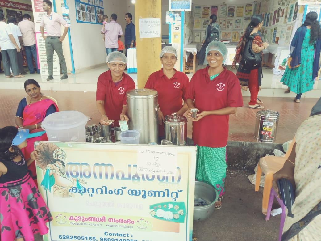 Members of Annapoorna Catering unit under Kudumbasree Mission