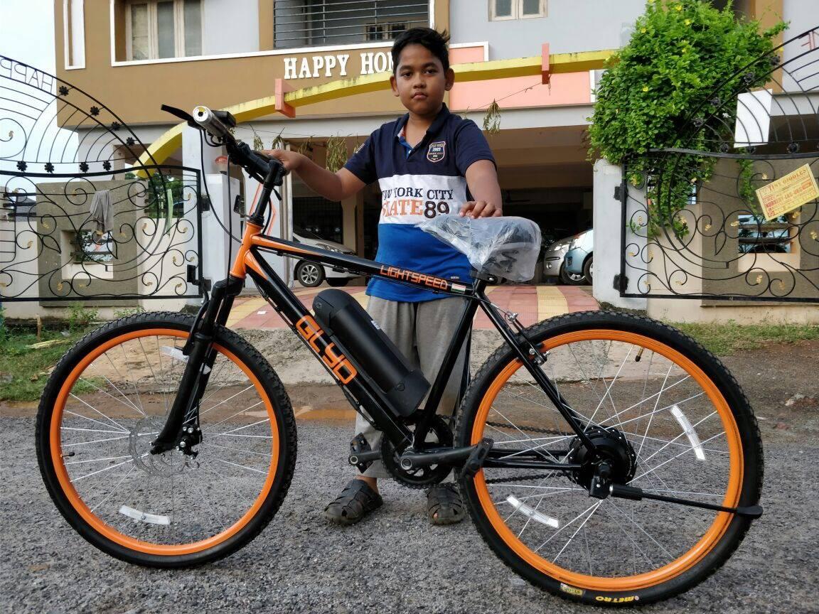 Children and the elderly alike can ride on Lightspeed's bikes