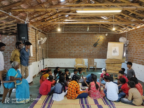Children attending their classes at the Damarugam Learning Centre
